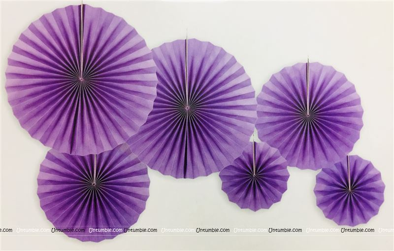 Purple Paper Fan Decoration 2