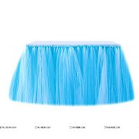 Jungle theme Blue tutu table skirt