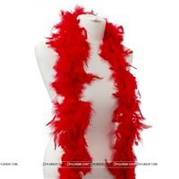 Feather Boa Garland Red