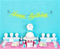 Underwater theme Yellow Happy Birthday Banner
