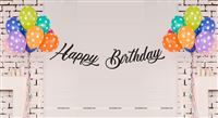 Cowboy theme Black Happy Birthday Banner