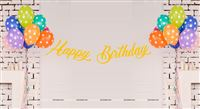 Giraffe theme Yellow Happy Birthday Banner