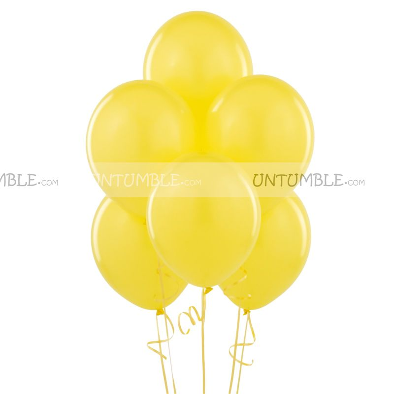 Yellow Latex Balloons (Pack of 20)