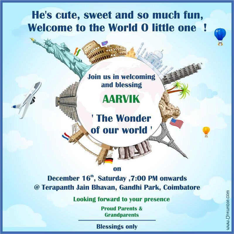 Around the World theme Theme Party Invite - Untumble.com