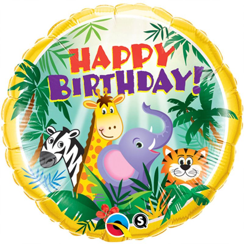 Jungle Birthday Foil balloon (18 inch)