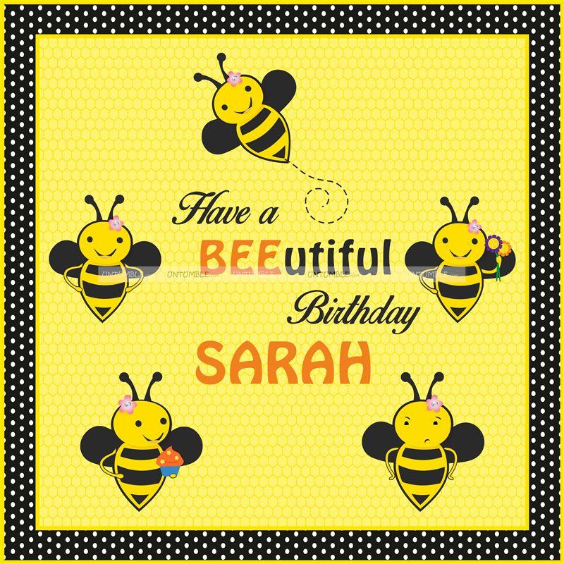 Bumble Bee Theme Pretty Backdrop