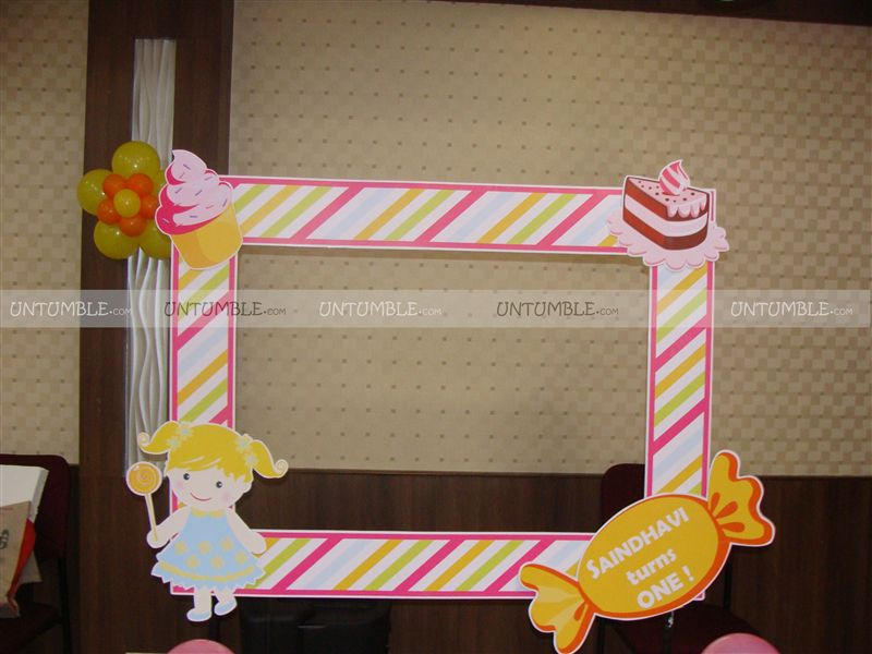 candy land theme photo booth frame untumble