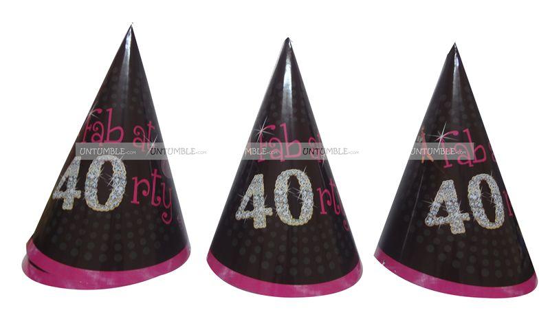 40th Birthday Theme Hats