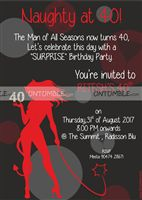 Rectangular Invitations - 40th Birthday Party Supplies