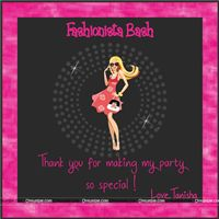 Thank you cards - Fashionista Theme Party Supplies