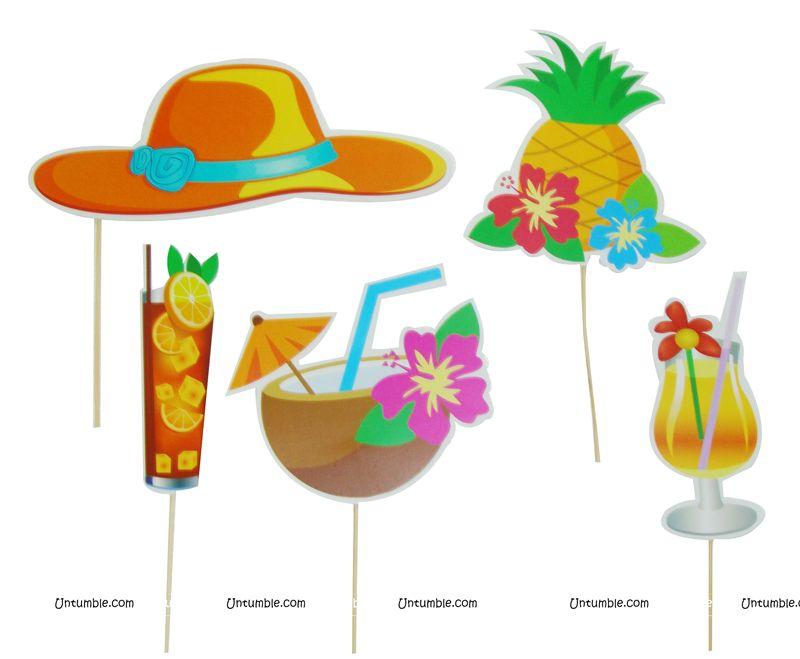 Hawaiian Party Theme Photo Booth Props Untumble Com
