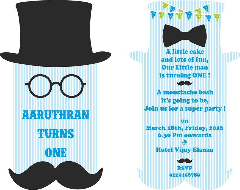Little Man theme Birthday invitations - Untumble.com
