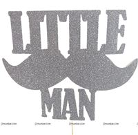 Cake Toppers - Customized - Little Man Theme Party supplies | Mustache Theme Birthday