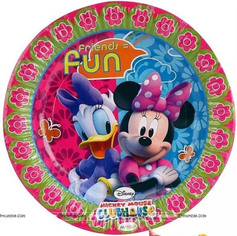 Mickey Minnie Theme Daisy Duck And Mouse Plates
