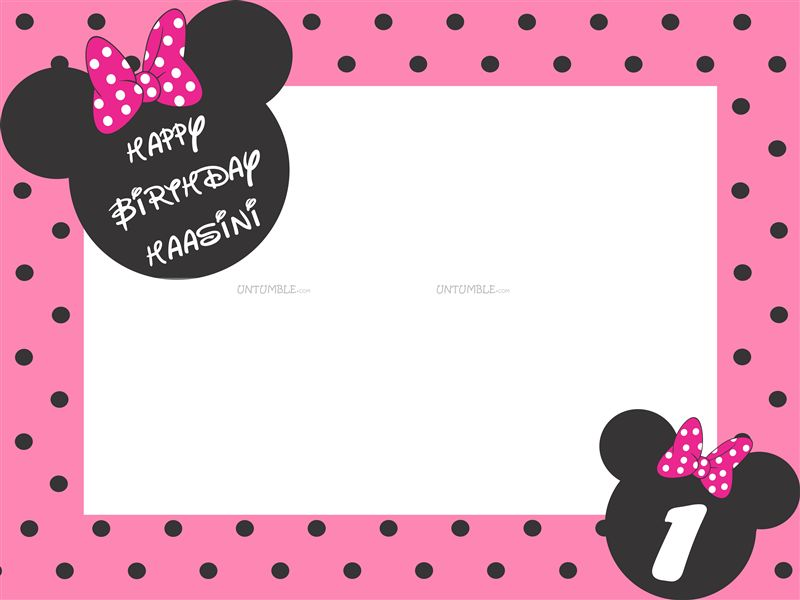 Mickey Minnie Theme Frame Type Minnie Photo Booth Untumblecom