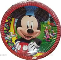 Birthday Party Plates - Mickey & Minnie Theme Birthday Party Supplies