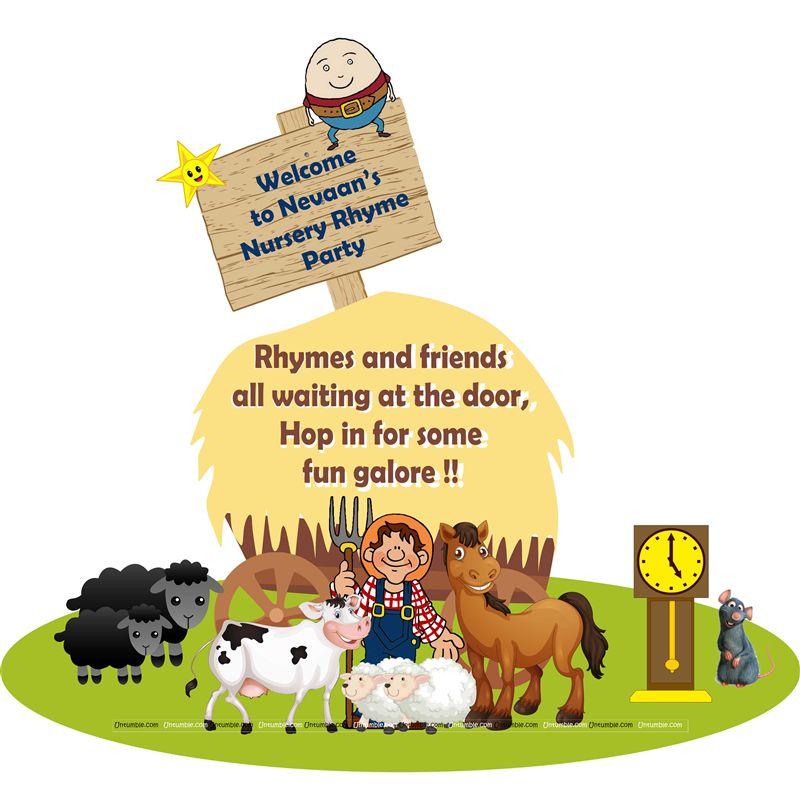 Nursery Rhymes theme Welcome banner  sc 1 st  Untumble & Nursery Rhymes theme Welcome banner - Untumble.com