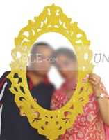 Wedding photo props theme Photo booth golden frame