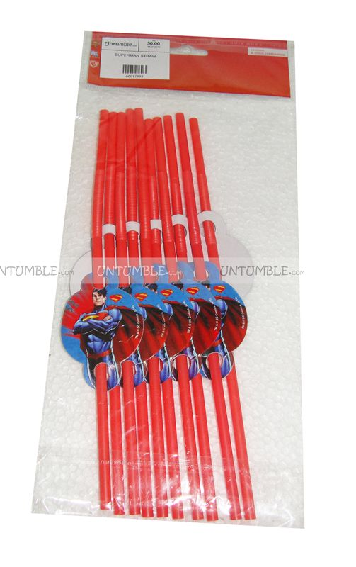 Super Man straw toppers