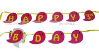 Happy Birthday Bunting - Sweet Tweet Theme Birthday Party