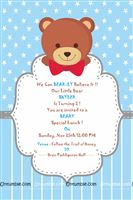 Rectangular Invitations - Teddy Bear theme birthday supplies