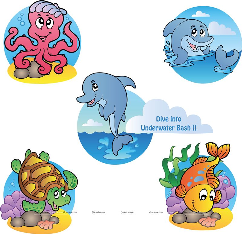 Underwater Poster pack of 5