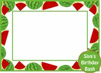 Photo Booth - Watermelon theme birthday party supplies