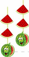 Disc Danglers - Watermelon theme birthday party supplies