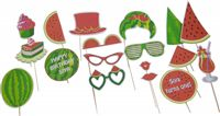 Photo Booth Props - Watermelon theme birthday party supplies