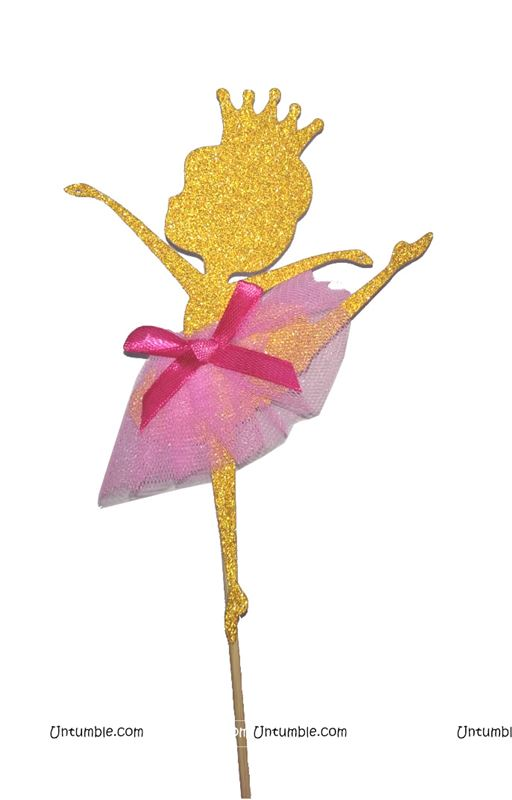 Ballerina Cake Topper with Tutu