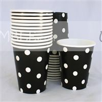 Little Star theme Black & white polka paper cups