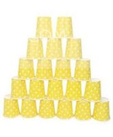 Underwater theme Yello & white polka paper cups