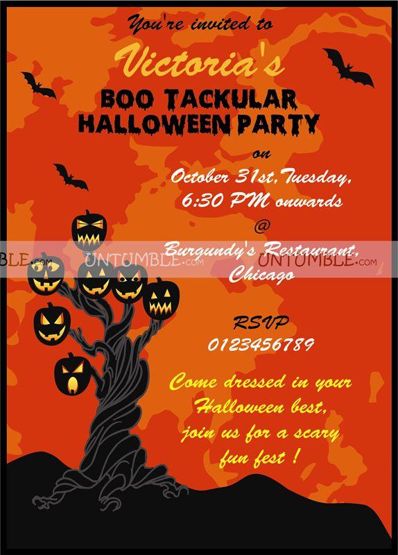 halloween theme party invite untumble com