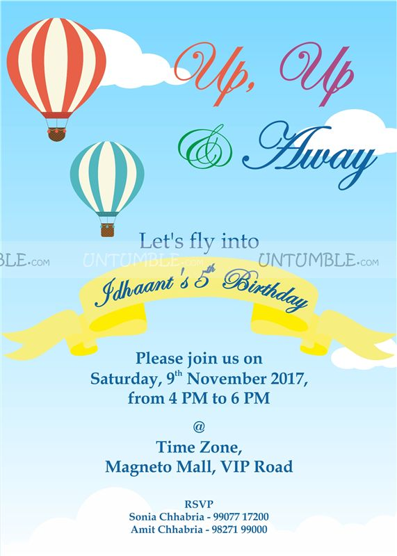 Hot air balloon supplies theme hot air balloon invitation untumble hot air balloon supplies theme hot air balloon invitation stopboris Gallery