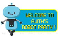 Posters / Cutouts - Robot Theme Party Supplies