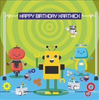 Backdrop - Robot Theme Party Supplies