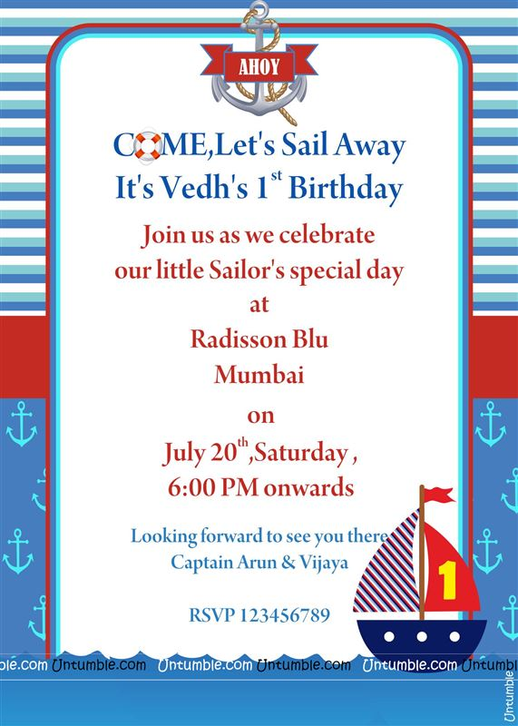 Sailor Party Invite