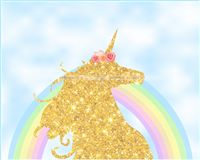 Backdrop - Unicorn theme birthday decorations