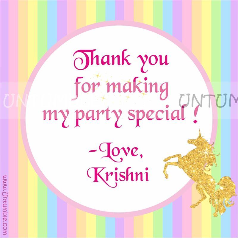 unicorn thank you cards  untumble