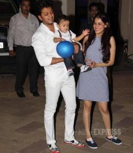 Genelia with her hubby Riteish Deshmukh