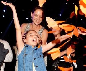 Suri Cruise with Kate Holmes
