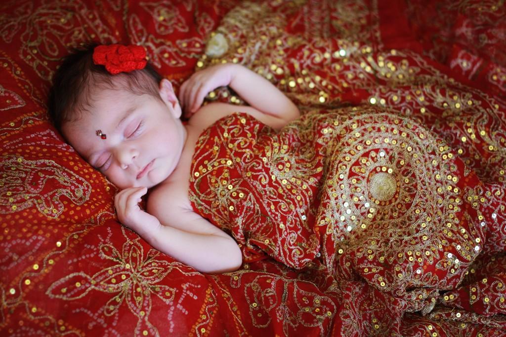 Baby in Grandma's Sari