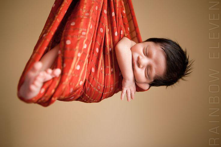 Baby in Sari Cradle