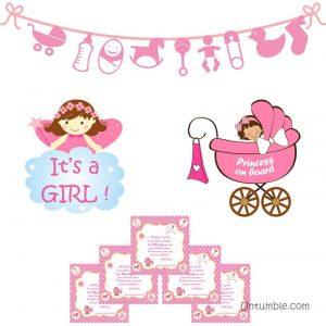 Girl Announcement Kit