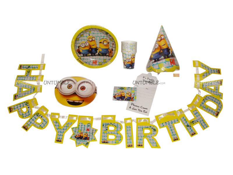Minion Birthday Party Kit