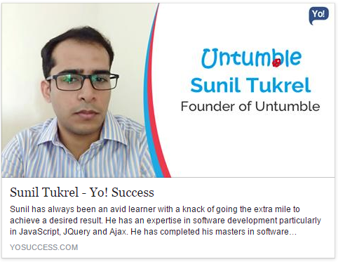 Exclusive interview with Sunil Tukrel, founder of Untumble