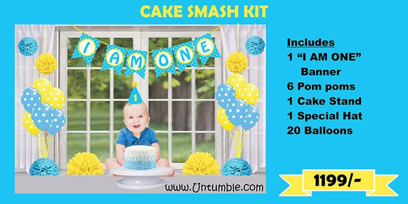 Cake smash party supplies