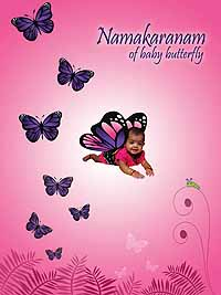Butterfly Namakaran theme Backdrop