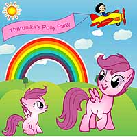 Pink Pony Birthday theme Backdrop