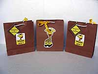 Giraffe theme Stickered gift bags